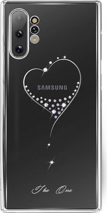 Husa Samsung Note 10 Plus Kingxbar Wish Series Cristale Originale Swarowsky Silver Huse Telefoane