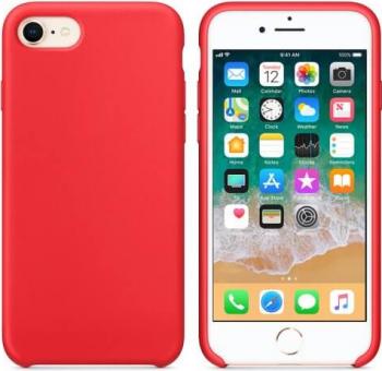 Husa Silicon Soft - iPhone 7 / 8 Rosu + Cadou - Folie Sticla Securizata