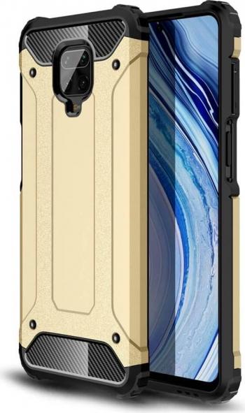 Husa Xiaomi Redmi Note 9 Pro / Redmi Note 9S Hybrid Armor Rugged Gold Huse Telefoane