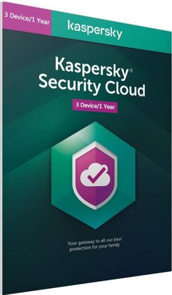 Kaspersky Security Cloud 2021 - 3 dispozitive / 1 an - windwos/mac/android/ios Antivirus