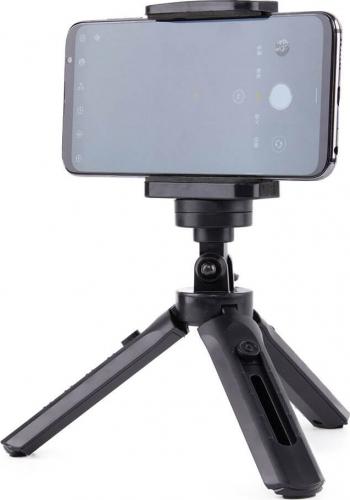 Mini Trepied / Tripod Pentru Camera sau Telefon Negru Gimbal, Selfie Stick si lentile telefon