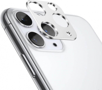 Protectie Camera iPhone 11 Pro  11 Pro Max Aluminiu Silver Folii Protectie