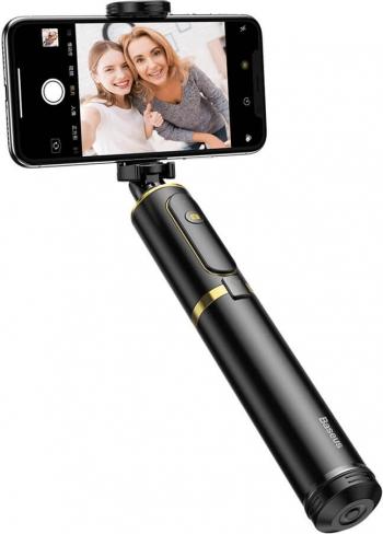 Selfie Stick + Tripod / Trepied Telescopic cu Control Bluetooth Baseus Gold Gimbal, Selfie Stick si lentile telefon