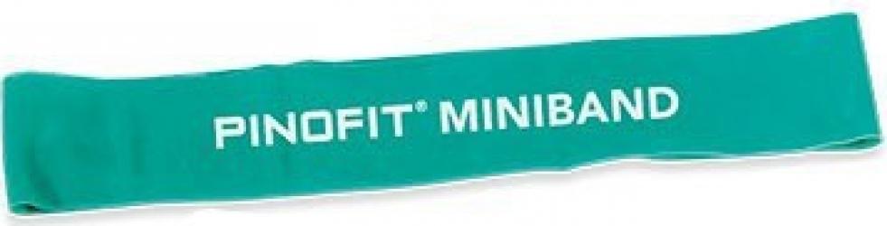 Banda elastica Miniband 33cm verde PINOFIT Aparate fitness