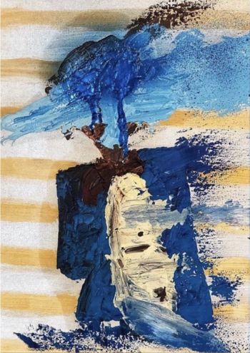 Tablou pictat manual in ulei Magus 45x35 cm Tablouri