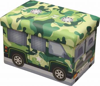 Taburet pliabil cu spatiu de depozitare dimensiuni 48 X 32 X 32 TB3086 Military Bus Scaune