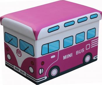 Taburet pliabil cu spatiu de depozitare 48 X 32 X 32 Cm TB3087 Mini Bus Scaune