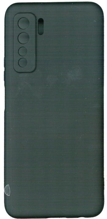 Husa LIQUID din silicon mat negru pentru Huawei P40 Lite 5G