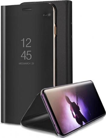 Husa Protectie Toc Flip Cover Clear View Mirror Xiaomi Mi 10T Lite Black Huse Telefoane
