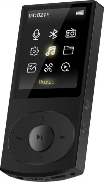 Mp3 Player AGPTEK C3 Bluetooth 8 GB portabil FM Radio cu antena extensibila detasabila