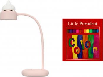 Set lampa pentru citit ambientala Anime 3 intensitati baterie reincarcabila LED incarcare USB roz si carioci subtiri 12 culori