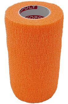 Bandaj elastic autoadeziv 10cm - Portocaliu Accesorii fitness