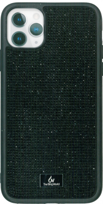 Husa protectie spate neagra Bling World Luxury pentru Apple iPhone 11 Pro Max 6.5 Huse Telefoane