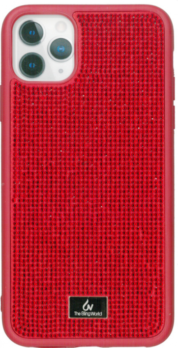 Husa protectie spate rosu Bling World Luxury pentru Apple iPhone 11 Pro Max 6.5 Huse Telefoane