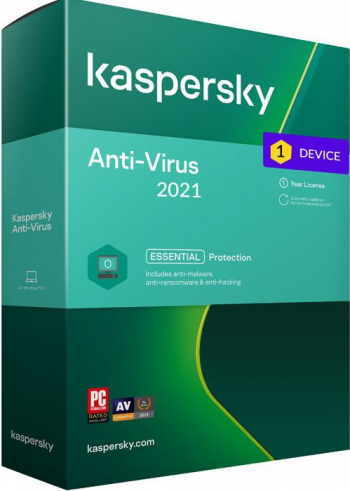 Kaspersky Antivirus 2021 1 Dispozitiv/1 An Antivirus
