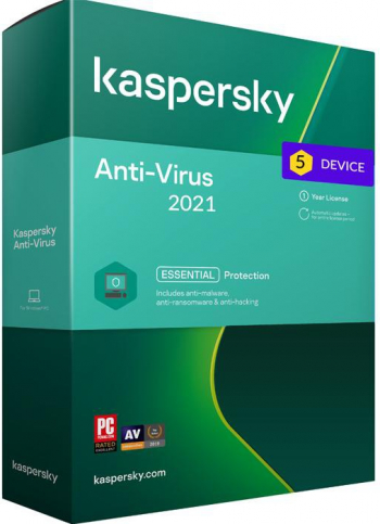 Kaspersky Antivirus 2021 5 Dispozitive /1 An Antivirus