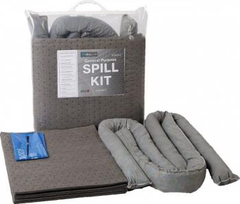 Kit universal de interventie rapida pentru scurgeri de lichide industriale - 70L gri Articole protectia muncii