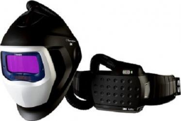 Masca de sudura 3M and trade Speedglas 9100 Air cu filtru de sudura 9100X si sistem de presiune pozitiva 3M and trade Adflo 567715