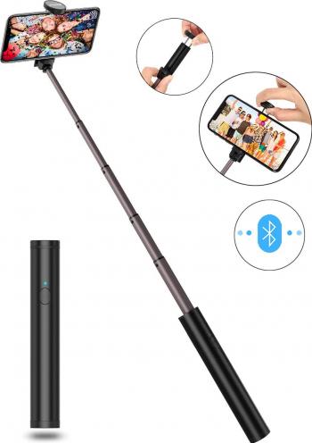 Mini Selfie Stick 3 in1 Multifunctional Bluetooth extensibil cu telecomanda wireless pentru iPhone Smartphone Gimbal, Selfie Stick si lentile telefon