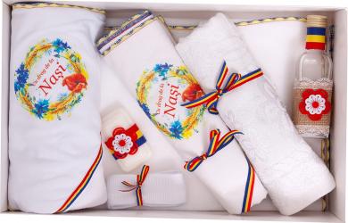 Trusou botez traditional complet Stela culoare tricolor 7 piese