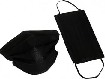 Masca cu filtru de Carbon Activ 3 straturi 3 pliuri set 40 bucati negru adulti Masti chirurgicale si reutilizabile