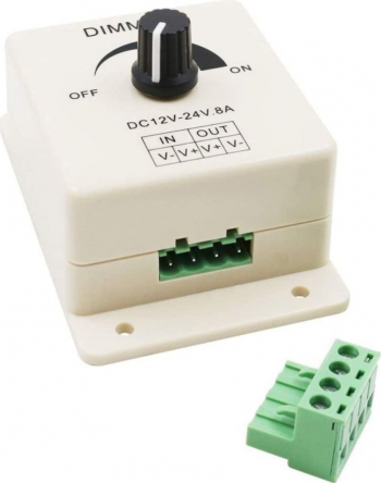 Comutator Led luminos reglabil DC 12-24V 8A dimmer controller maxim 96W Corpuri de iluminat