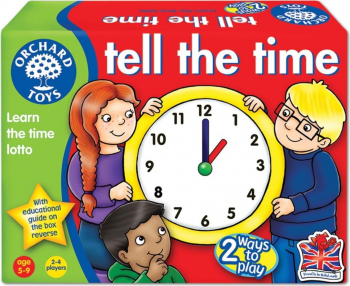 Joc educativ loto in limba engleza Citeste ceasul TELL THE TIME Jucarii