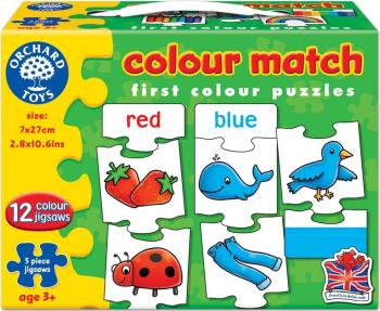 Joc educativ - puzzle in limba engleza Invata culorile prin asociere COLOUR MATCH Puzzle