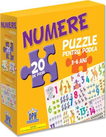 Puzzle educativ cu afis NUMERELE -Editura DPH Jucarii Interactive