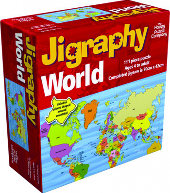 Puzzle educativ Harta Lumii / Jigraphy World The Happy Puzzle Company Puzzle
