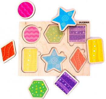 Puzzle Forme geometrice - jucarie educativa Quokka Puzzle