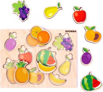 Puzzle Fructe - jucarie educativa Quokka Puzzle