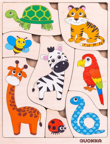 Puzzle Ghici care e blanita mea - jucarie educativa Quokka Puzzle