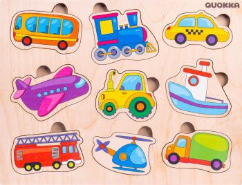 Puzzle Mijloace transport - jucarie educativa Quokka Jucarii