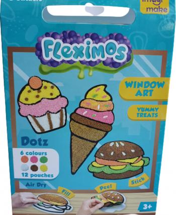 Set creativ stickere pentru fereastra Yummy Treats Puzzle