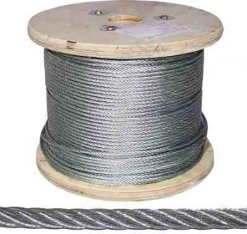 Cablu inox 7x7 fire AISI316 and Oslash 6 mm Lungime 100 metri Accesorii feronerie
