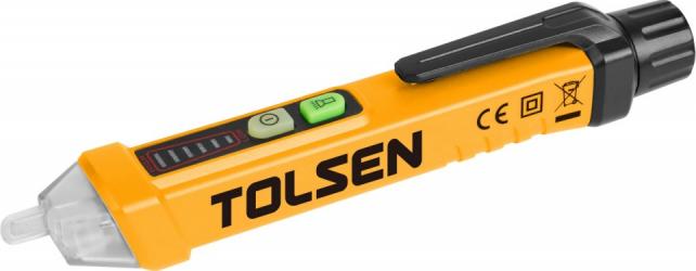Detector de tensiune fara contact Tolsen CAT 3 12-1000 V Industrial Unelte si aparate de masura