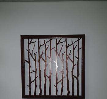 Decor perete Art metal Tablou metalic Antic 55x55 cm