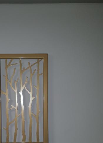 Decor perete Art metal Tablou metalic Auriu 31x55 cm