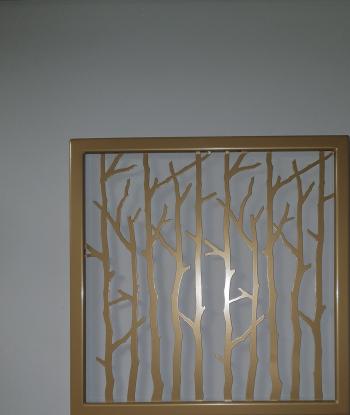 Decor perete Art metal Tablou metalic Auriu 55x55 cm