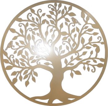 Decor perete Copacul vietii Arborele Vietii 60x60 Model 1 Auriu