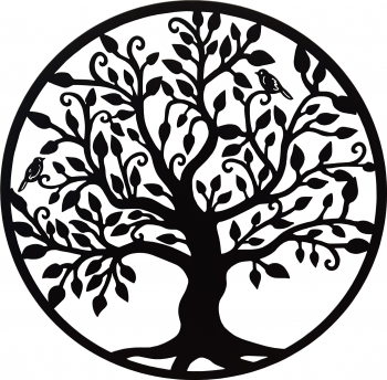 Decor perete Copacul vietii Arborele Vietii 60x60 Model 1