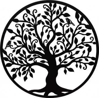 Decor perete Copacul vietii Arborele Vietii 75x75 Model 1