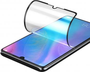 Folie din Silicon cu Aliaj Ceramic compatibila iPhone 11 Pro Max antisoc Negru Folii Protectie