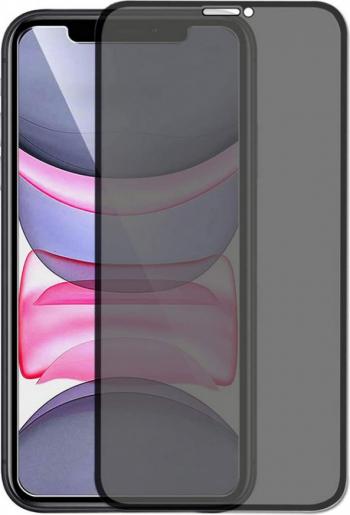 Folie sticla privata pentru Apple iPhone 11 Pro 5D Privacy Glass Black Folii Protectie
