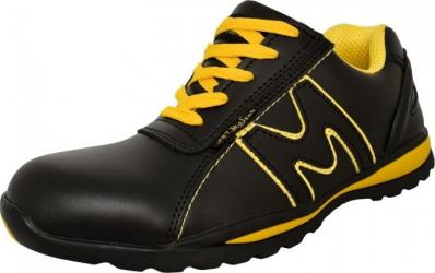 Pantofi sport de protectie Artmas cu bombeu metalic marimea 38 culoare negru-galben Articole protectia muncii