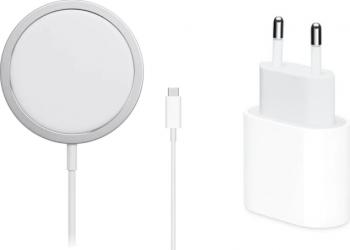 Set Incarcator magsafe 20w iphone 12 Pro 12 pro Max 12 mini + adaptor apple Alb retail box Incarcatoare Telefoane