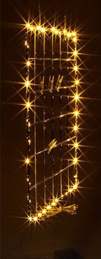 Grila metalica de perete I-Glow cu 30 LED si 5 cleme Corpuri de iluminat