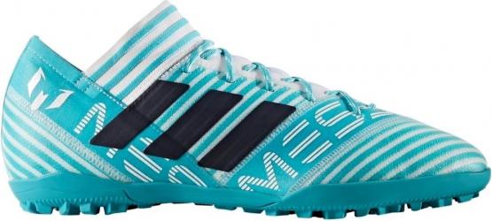 Ghete fotbal Adidas Nemeziz Leo Messi Tango 17.3 TF teren sintetic alb/turcoaz 46 Incaltaminte barbati