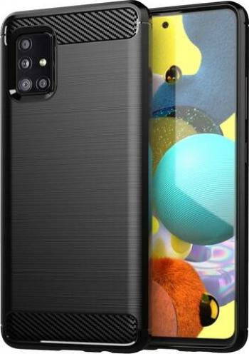 Husa Spate Upzz Carbon Pro Compatibil Cu Samsung Galaxy A52 5g Silicon Negru